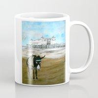 donkey Mugs featuring Seaside Donkey by James Peart