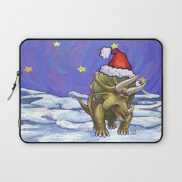 Triceratops Christmas Laptop Sleeve