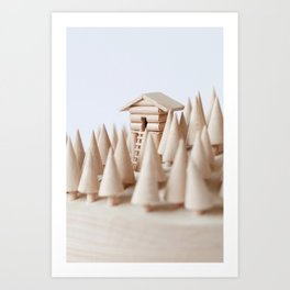 lookout cabin closeup Art Print