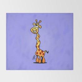 Joyfull Giraffe Throw Blanket