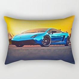 Blue Mirror Rectangular Pillow