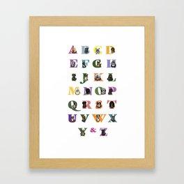 Alphabuddies Framed Art Print