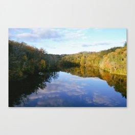 Lake Vesuvius Rock Edge View, Wayne National Forest, Oh, 2014 Canvas Print