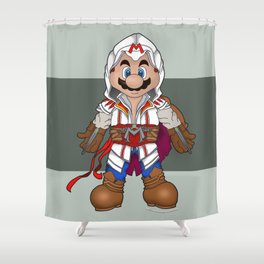 Mario's Creed Shower Curtain