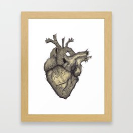 Stone Heart Framed Art Print