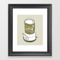 One Gallon Hat Framed Art Print