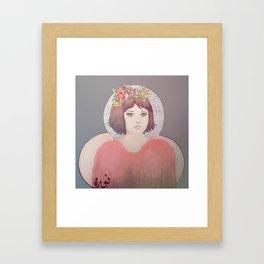 flower girl - floral Framed Art Print