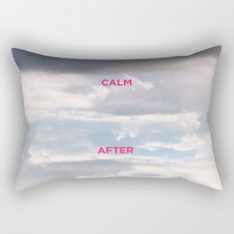The calm after the storm. By Angelica Ramos Rectangular Pillow