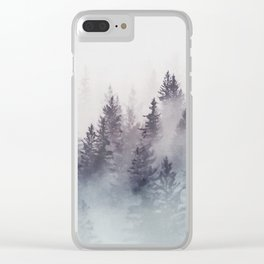 Winter Wonderland - Stormy weather Clear iPhone Case