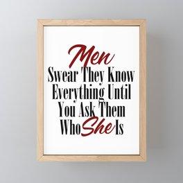 Funny Relationship Design Men Women Husband Boyfriend Meme Framed Mini Art Print