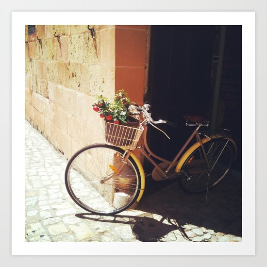 Yellow Bicycle Art Print