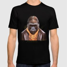 Gorilla Mens Fitted Tee Black SMALL