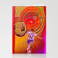soccer Stationery Cards featuring Soccer by Ticopage designs