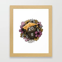 Honeycomb D20 Tabletop RPG Gaming Dice Framed Art Print