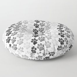 Paw Prints Pattern Floor Pillow