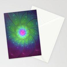 Fantasy Flower Fractals Art Stationery Cards