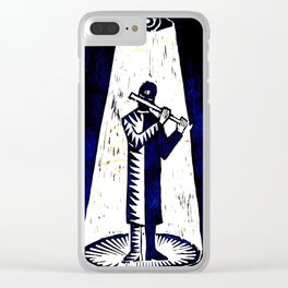 WoodCutter - music figure Clear iPhone Case