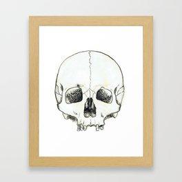 Simple Skull Framed Art Print