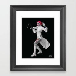 Princess Leia Strikes Back Framed Art Print