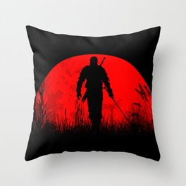 Geralt of Rivia - The Witcher Throw Pillow