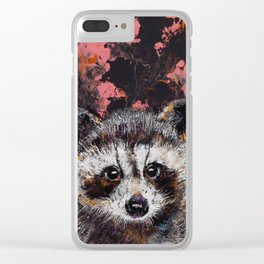 Baby Raccoon Clear iPhone Case