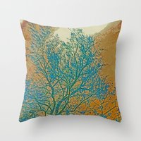 breaking Throw Pillows featuring Weather Breaking by Anne Millbrooke