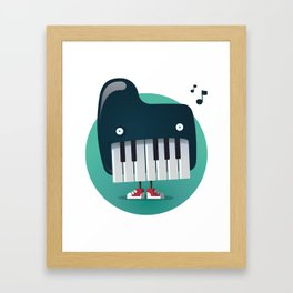 Piano Monster Framed Art Print