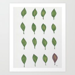 Leaves that are Green Art Print
