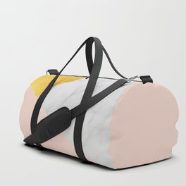 Carrara Marble with Gold and Pantone Pale Dogwood Color Duffle Bag
