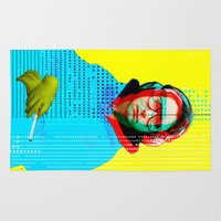 beastie boys Area & Throw Rugs featuring Gioconda Music Project · Beastie Boys · Adam Horrovitz by Marko Köppe