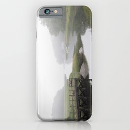 Foggy little river iPhone Case
