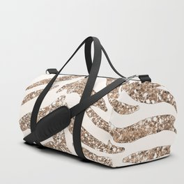 Glitter and Gold Tiger Stripes Duffle Bag
