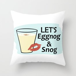 Let's Eggnog & Snog Throw Pillow