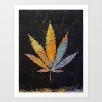 cannabis Art Prints featuring Cannabis by Michael Creese