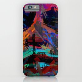 Abstract Rainbow Camouflage II iPhone Case