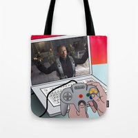 game Tote Bags featuring  game by mark ashkenazi