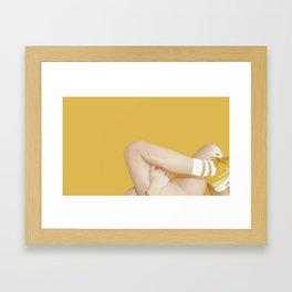 YELLOW SNEAKERS Framed Art Print