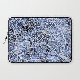 Berlin Germany City Map Laptop Sleeve