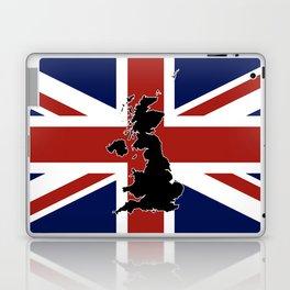 UK Silhouette and Flag Laptop & iPad Skin