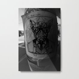 Calling the Doctor Black and White Metal Print