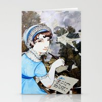 jane austen Stationery Cards featuring Jane Austen by Makissima