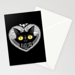 Black Cats Club Stationery Cards