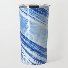 Abstract Marble - Denim Blue Travel Mug