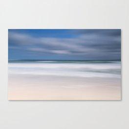 blue seas cloudy sky Canvas Print