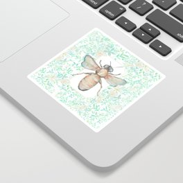 Garden Bee and Blooming Flowers Sticker