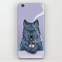 daunt iPhone & iPod Skins featuring Tea Wolf by Daunt