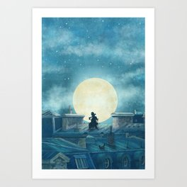Rooftoppers Art Print