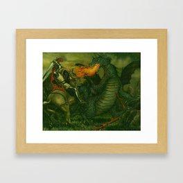 Knight & Dragon Framed Art Print