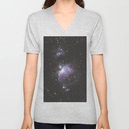 Orion And Running man Nebula's Unisex V-Neck