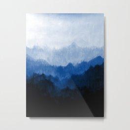 Mists - Blue Metal Print